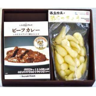 ビーフカレー&岩崎屋の酢らっきょうセット