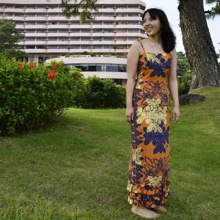 マモ・ハウエル・ストラップ・ドレス オレンジ
