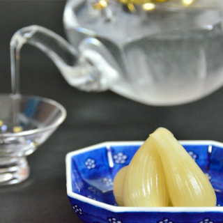 白露オリジナル焼酎‐岩崎屋の酢らっきょう