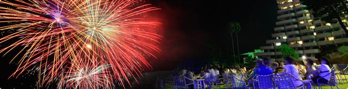 Iwasaki Fire Night! Mondays and Fridays are Fireworks night!